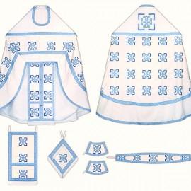 Vêtements sacerdotaux pour les prêtres (blancs et bleus)